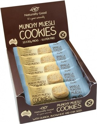 Naturally Good Munchy Muesli Cookie Vanilla  20x30g