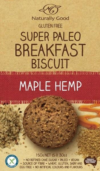 Naturally Good Super Paleo Breakfast Bscuit Maple Hemp (3x50g)  150g