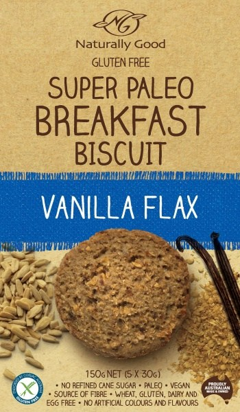 Naturally Good Super Paleo Breakfast Bscuit Vanilla Flax (3x50g)  150g