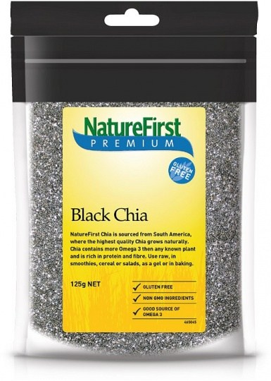 Nature First Chia Seeds Black 125g