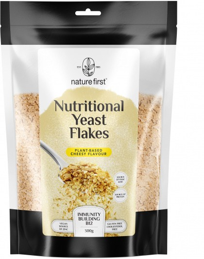 Nature First Nutritional Yeast Flakes Plant- Based Cheesy Flavour 300g