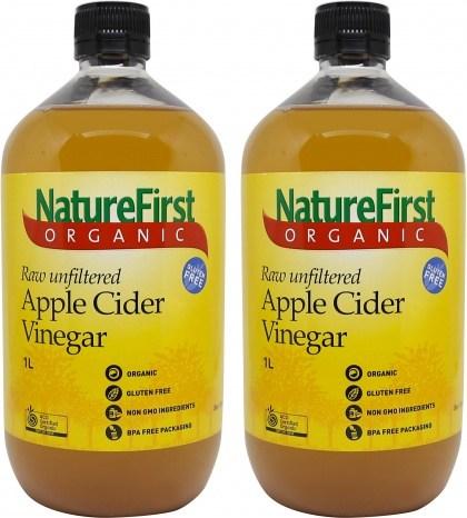 Nature First Organic Apple Cider Vinegar 1L Twin Pack