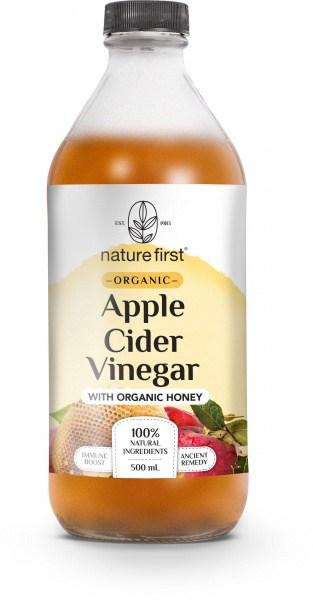 Nature First Organic Apple Cider Vinegar w/Honey  500ml