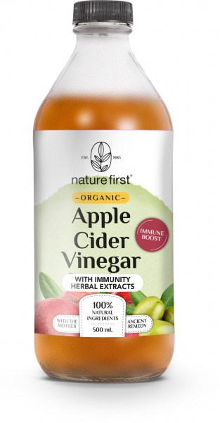 Nature First Organic Apple Cider Vinegar w/Immunity Herbal Extracts 500ml