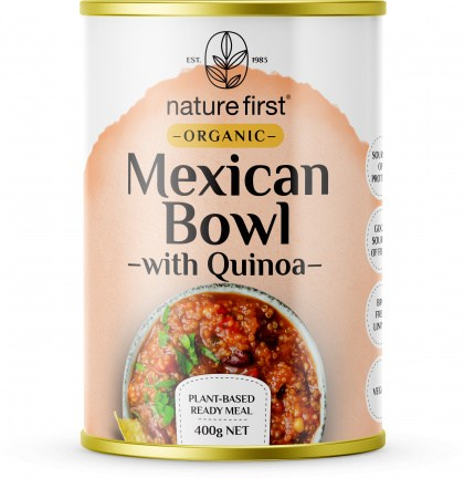 Nature First Organic Mexican Bowl with Quinoa Plant Based Ready Meal Caná400g
