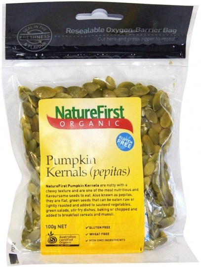 Nature First Organic Pumpkin Kernels Pepitas 100g