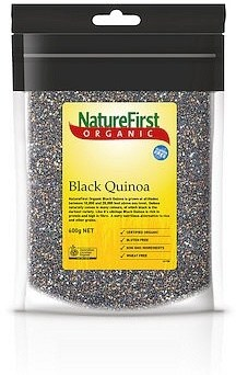Nature First Organic Quinoa Grain Black  600g