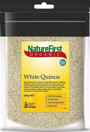 Nature First Organic Quinoa White Bag 600g