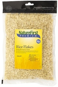 Nature First Rice Flakes Rolled GF 500g
