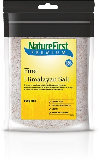 Nature First Salt Himalayan Pink Fine (Bag)  500g