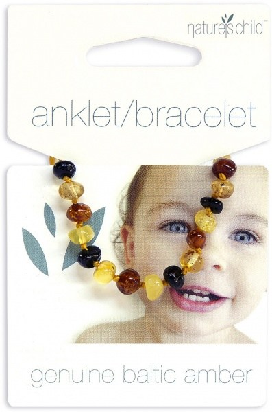 Natures Child Amber Anklet/Bracelet for Baby Mixed Colours