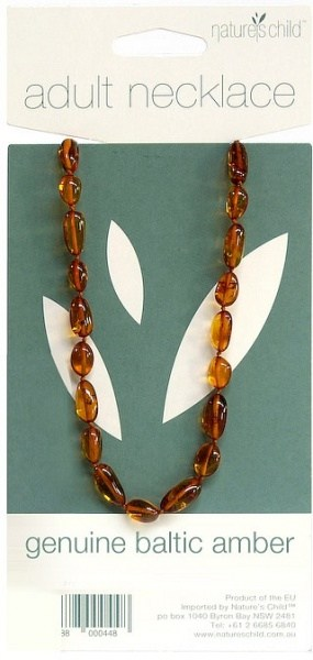 Natures Child Amber Necklace for Adults Cognac