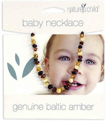 Natures Child Amber Necklace for Baby Mixed Colours