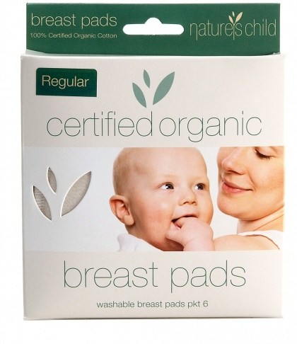 Natures Child Organic Cotton Reusable Breast Pads Pkt 6 Regular