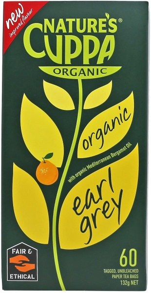 Natures Cuppa Earl Grey 60Teabags 20%Extra