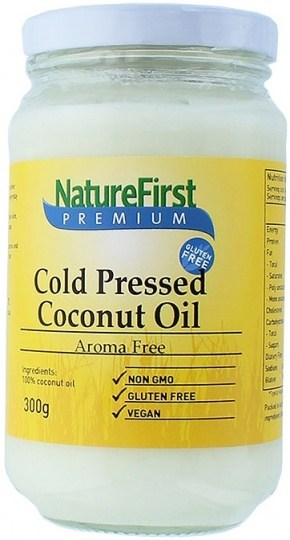 Natures First Coconut Oil Cold Pressed Aroma Free 300g