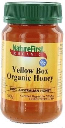 Natures First Organic Yellow Box Honey 500gm