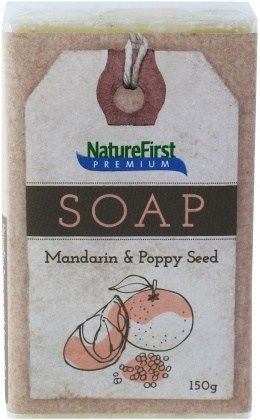 Natures First Premium Soap Mandarin & Poppy Seed 150g