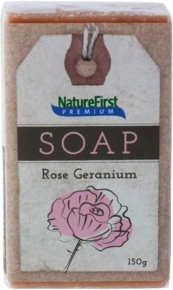 Natures First Premium Soap Rose Geranium 150g