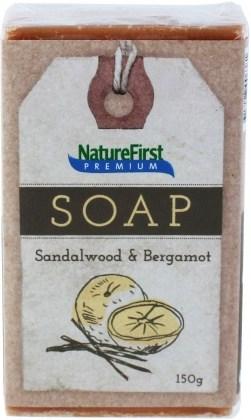 Natures First Premium Soap Sandalwood & Bergamot 150g