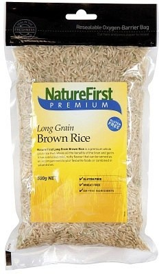 Natures First Rice Brown Long Grain 500g