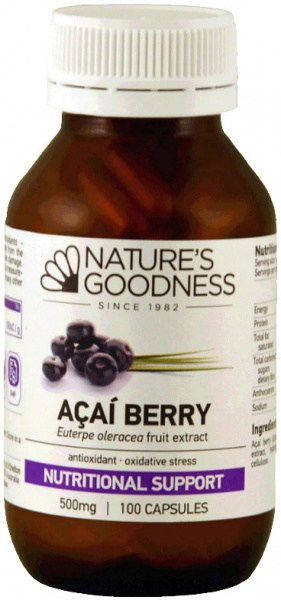Natures Goodness Acai Power Capsules 500mg/100s
