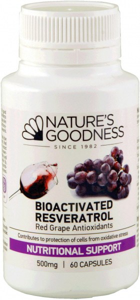 Natures Goodness Bioactivate Resveratrol 500mg/60c