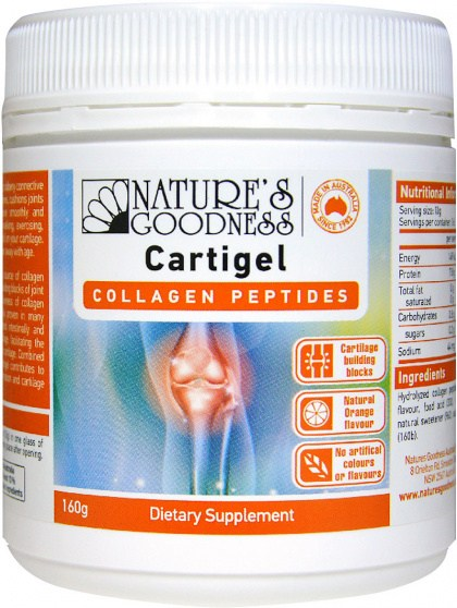 Natures Goodness Cartigel Collagen Peptides Powder 160g