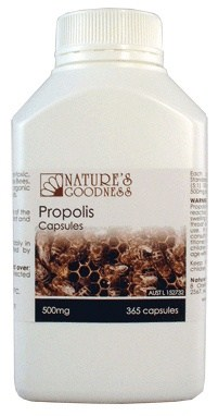 Natures Goodness Propolis Capsules 500mg/365s