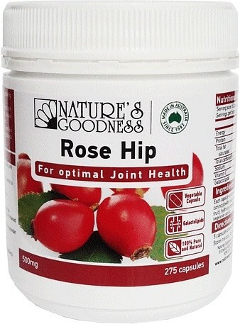 Natures Goodness Rose Hip Capsules 500mg/275's