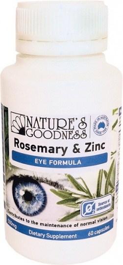 Natures Goodness Rosemary & Zinc Eye Formula 60caps