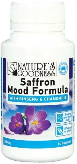 Natures Goodness Saffron Mood Formula with Ginseng & Chamomile 500mg  60 caps