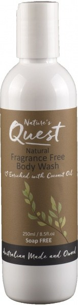 Nature's Quest Fragrance Free Body Wash 250ml