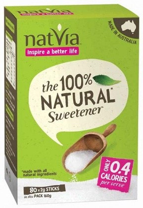 NatVia Sweetener 80 Stick Box 2g