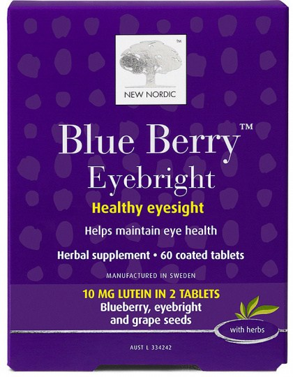New Nordic Blue Berry Eyebright 60Tabs