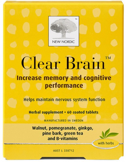 New Nordic Clear Brain 60Tabs