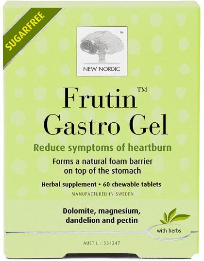 New Nordic S/F Frutin Gastro Gel 60 Chewable Tabs