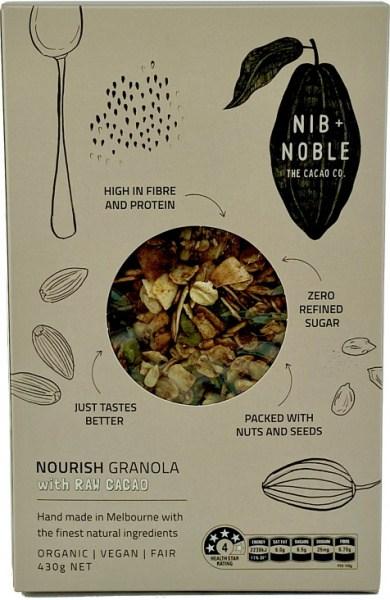 Nib & Noble Nourish Granola w/Raw Cacao 430g
