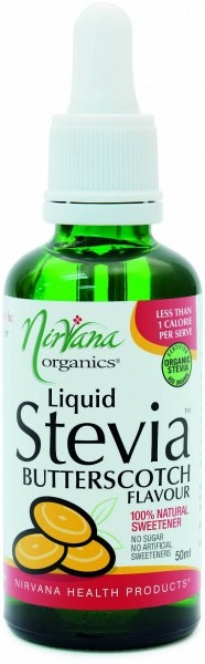 Nirvana Organics Butterscotch Flavour Stevia Liquid 50ml
