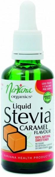 Nirvana Organics Caramel Flavour Stevia Liquid 50ml