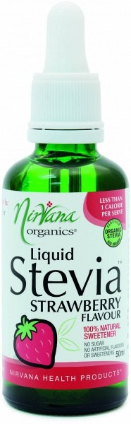 Nirvana Organics Strawberry Flavour Stevia Liquid 50ml