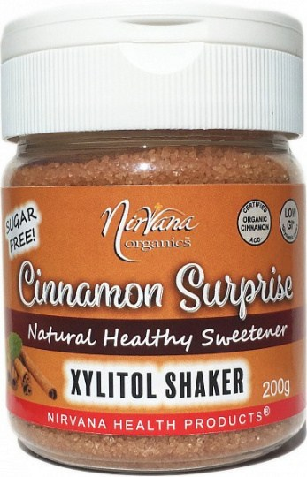 Nirvana Organics Xylitol Cinnamon Shaker 200g