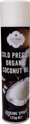 Nucifera Cold Pressed Organic Coconut Oil Cooking Spray 225g