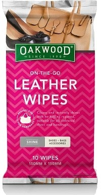 Oakwood On-the-Go Leather Wipes (150mm x 150mm) 10Pk