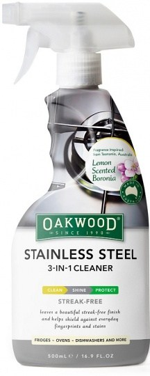 Oakwood Stainless Steel 3 in 1 Cleaner 500ml