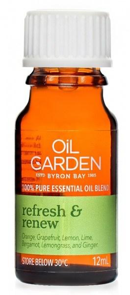 Oil Garden Refresh & Renew Pure Essential Oil Blends 12ml
