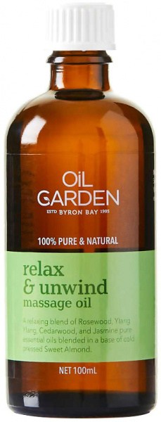 Oil Garden Relax & Unwind Pure Body & Massage Oil Blend 100mL