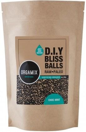 Orgamix Organic D.I.Y Bliss Balls (Raw Paleo) Choc Mint  200g