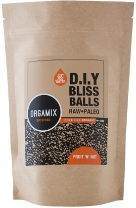 Orgamix Organic D.I.Y Bliss Balls (Raw Paleo) Fruit 'n' Nut  200g AUG17