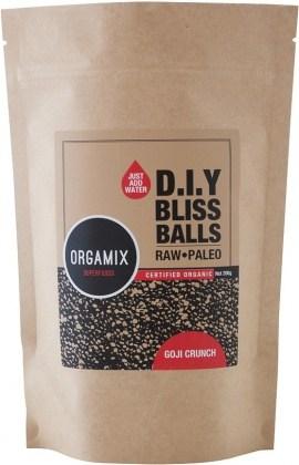 Orgamix Organic D.I.Y Bliss Balls (Raw Paleo) Goji Crunch  200g